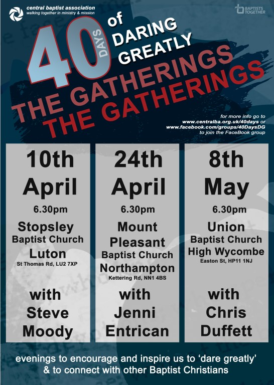 40 Days Poster for the gatherings (Medium)
